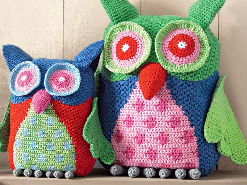 игрушки подушки совы схема вязания крючком вяжем игрушки на