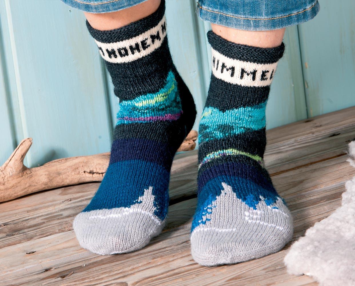 схема вязания носков с орнаментом
