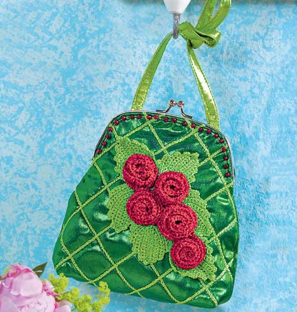 eb953016df85 Театральная сумочка с розами - схема вязания крючком. Вяжем Сумки на  Verena.ru