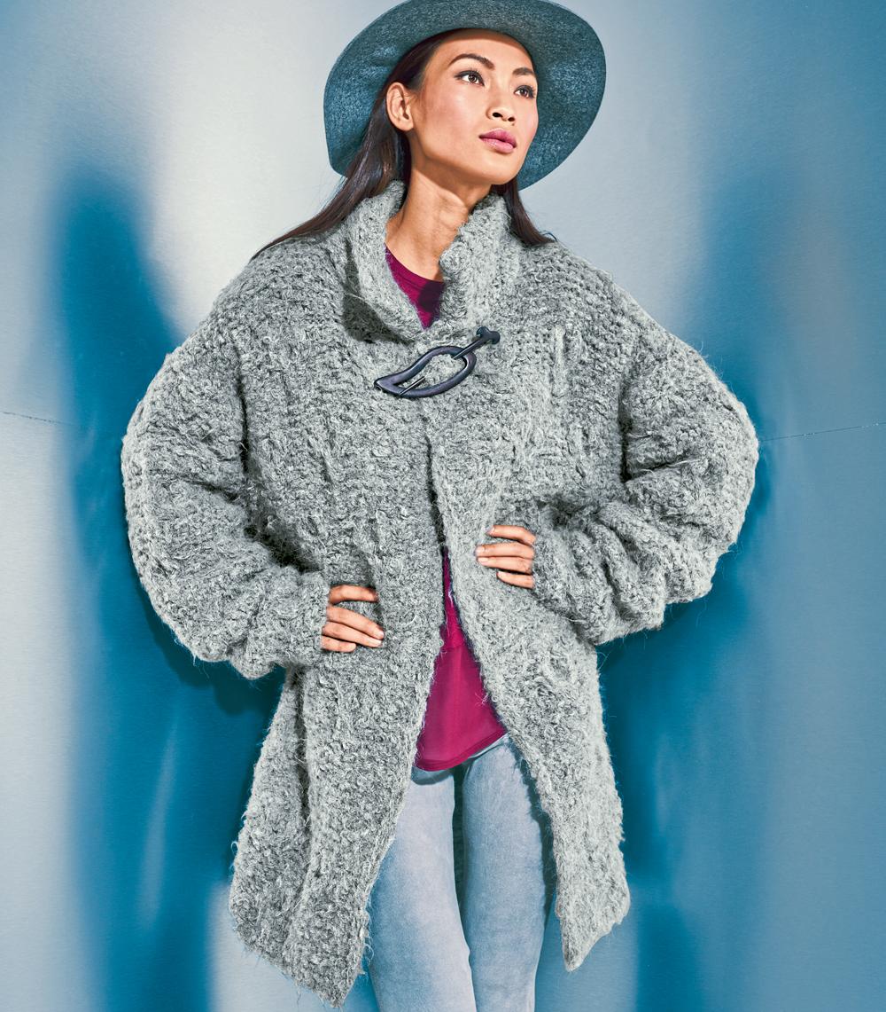 Вязание воротника на пальто спицами схемы