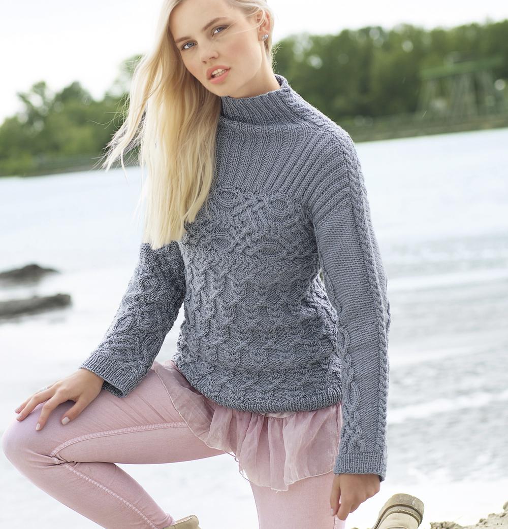 свитер с кельтскими узорами схема вязания спицами вяжем свитеры
