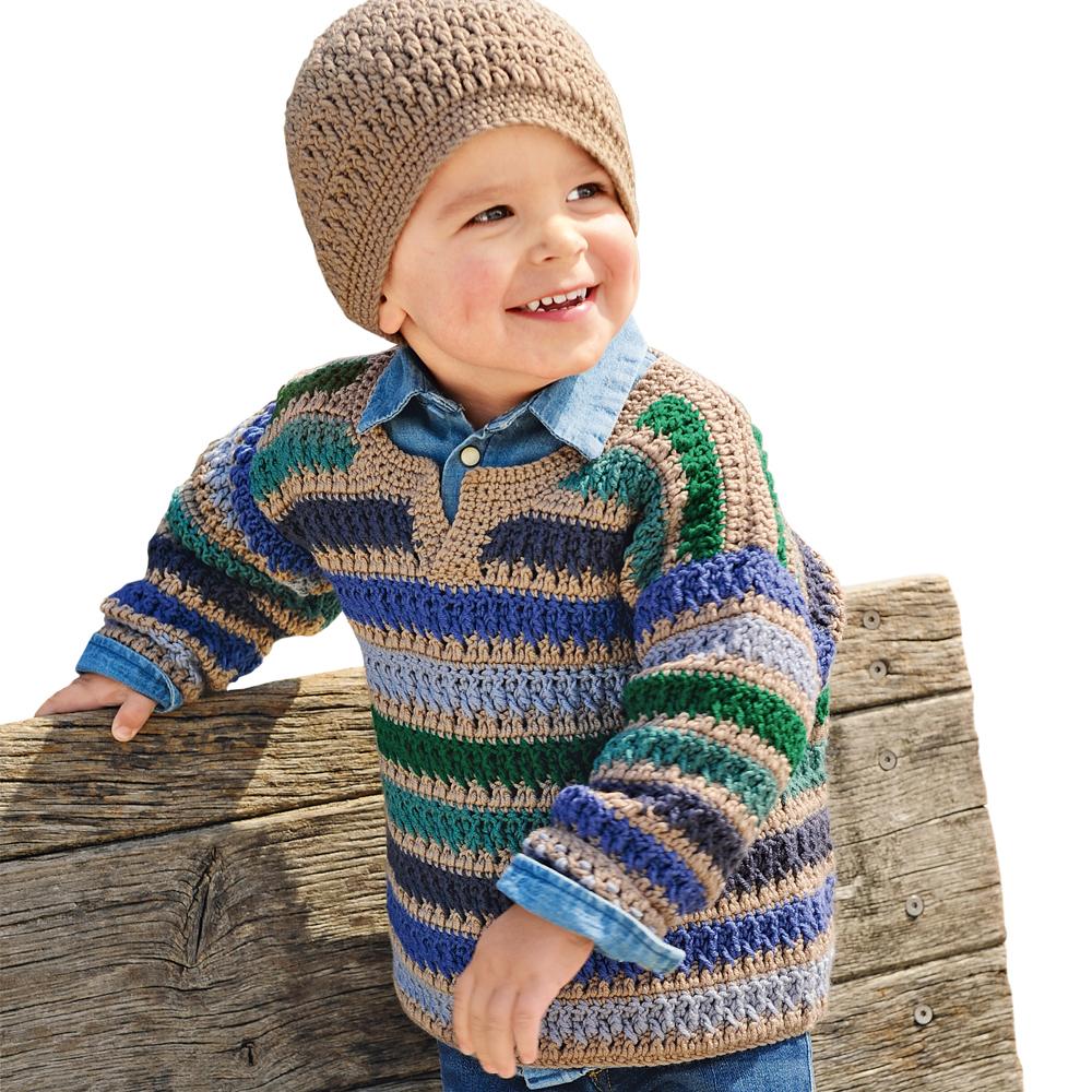 Пуловер с узором из рельефных столбиков