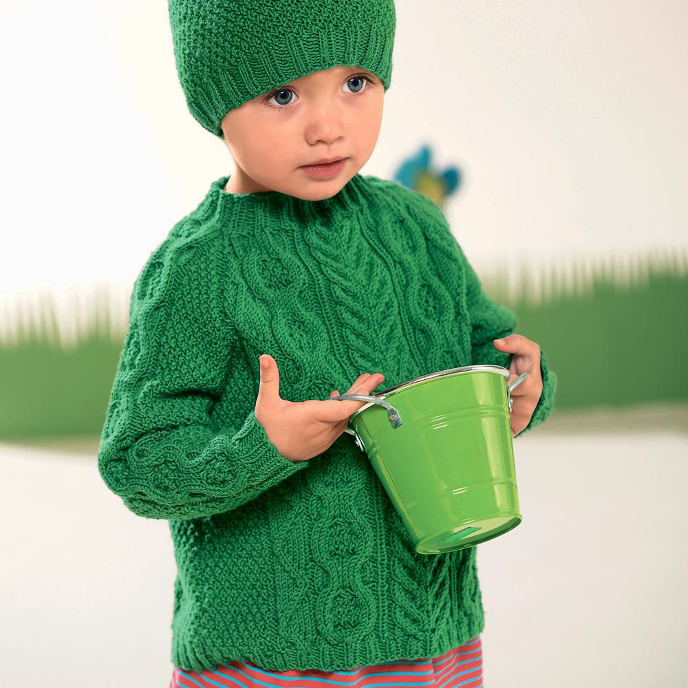 Детский свитер с «косами»