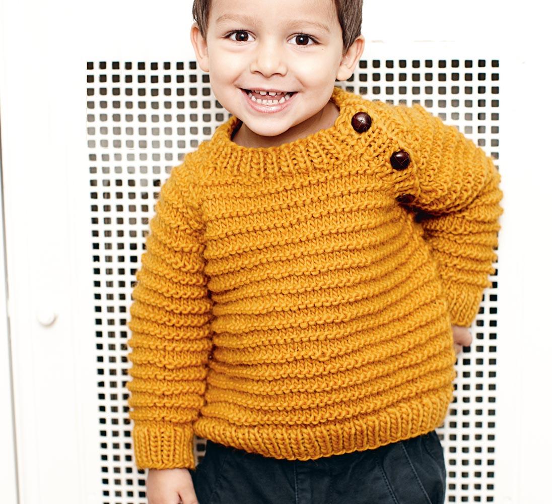 Джемпер для мальчика с боковой застежкой