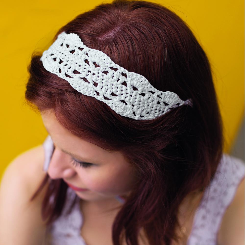 ажурная лента для волос схема вязания крючком вяжем аксессуары на