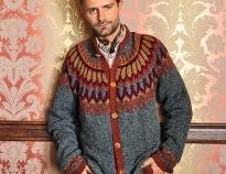 схемы вязания свитеров спицами на зиму для мужчин на Verenaru