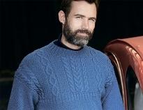 e48c87752846 Схемы вязания свитеров спицами с рельефными узорами для мужчин на ...