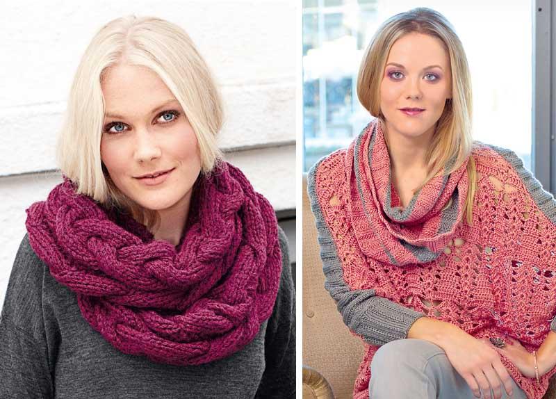 12 способов  носить шарф-петлю.