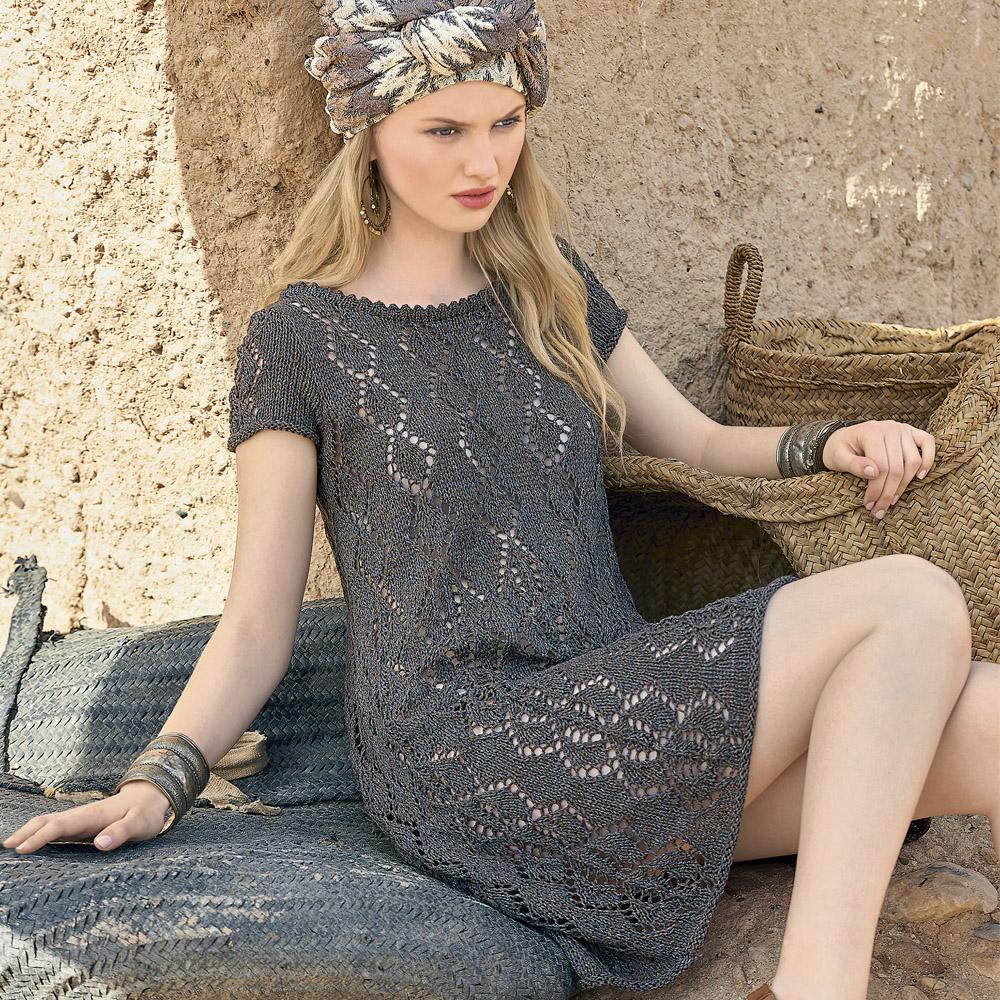 Летнее платье спицами для женщин со схемами фото 413