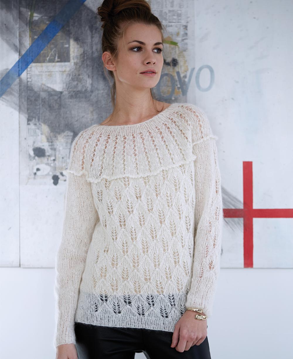 Вязаные свитера спицами женские схемы, описание и видео 32