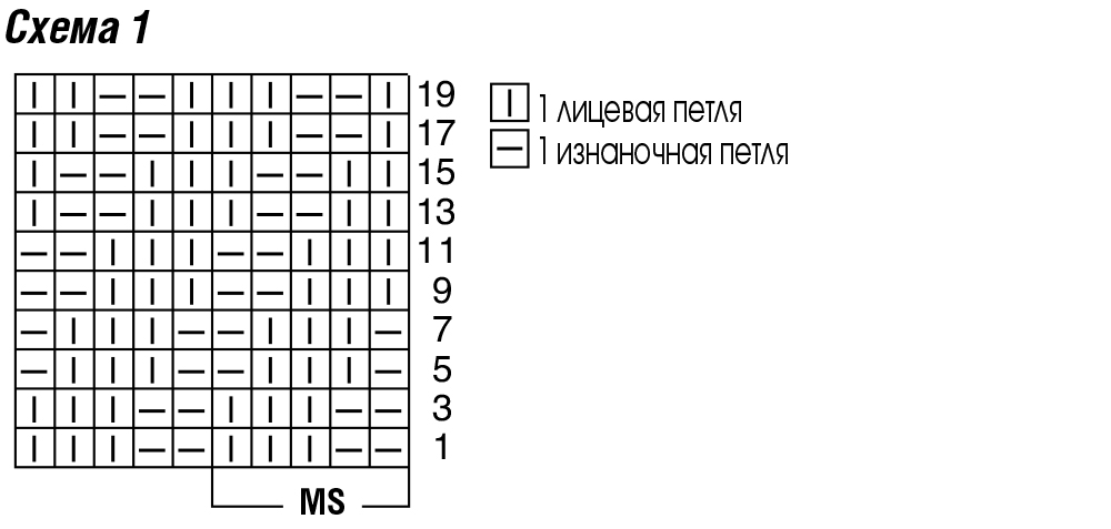 Вязание спицами схемы петель 69