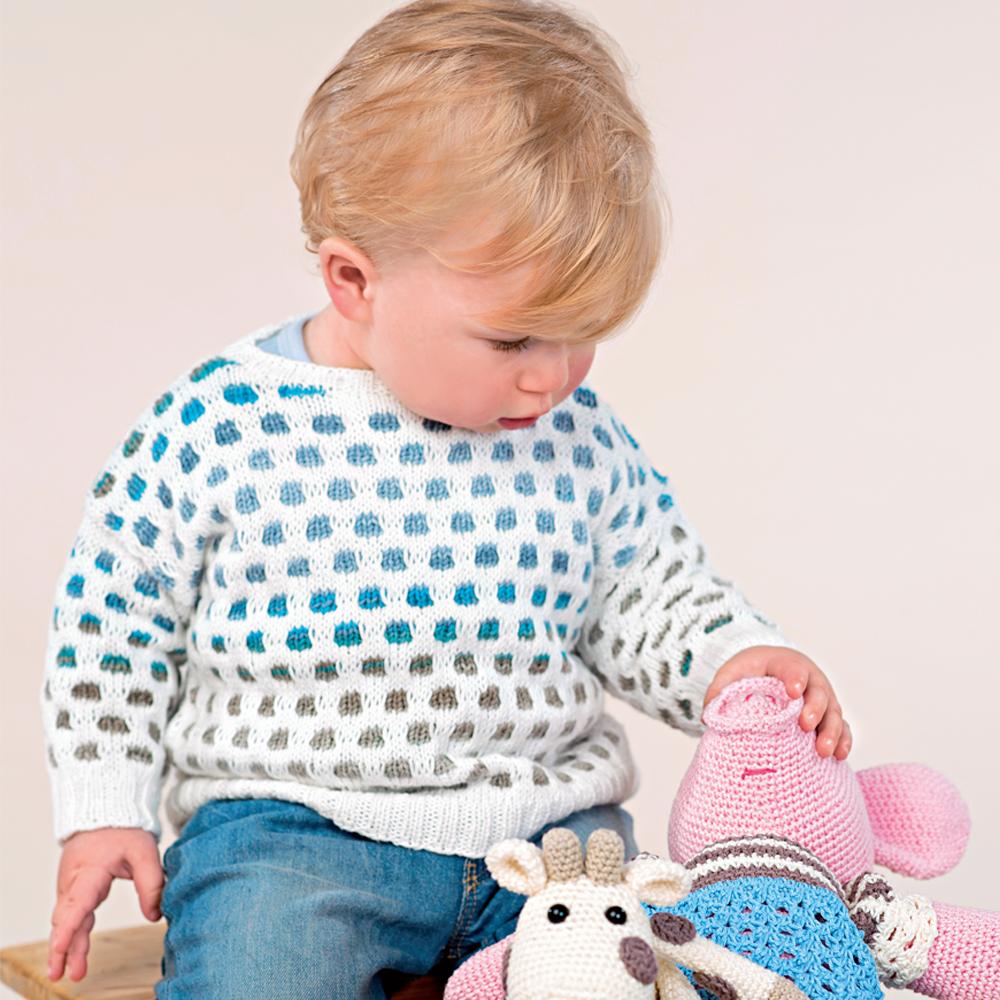 схема вязания детский джемпер