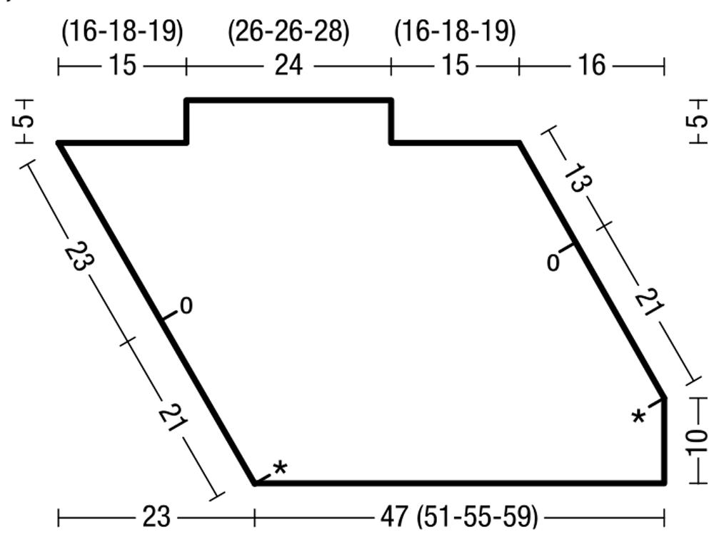 Кромочная петля спицами схема 65