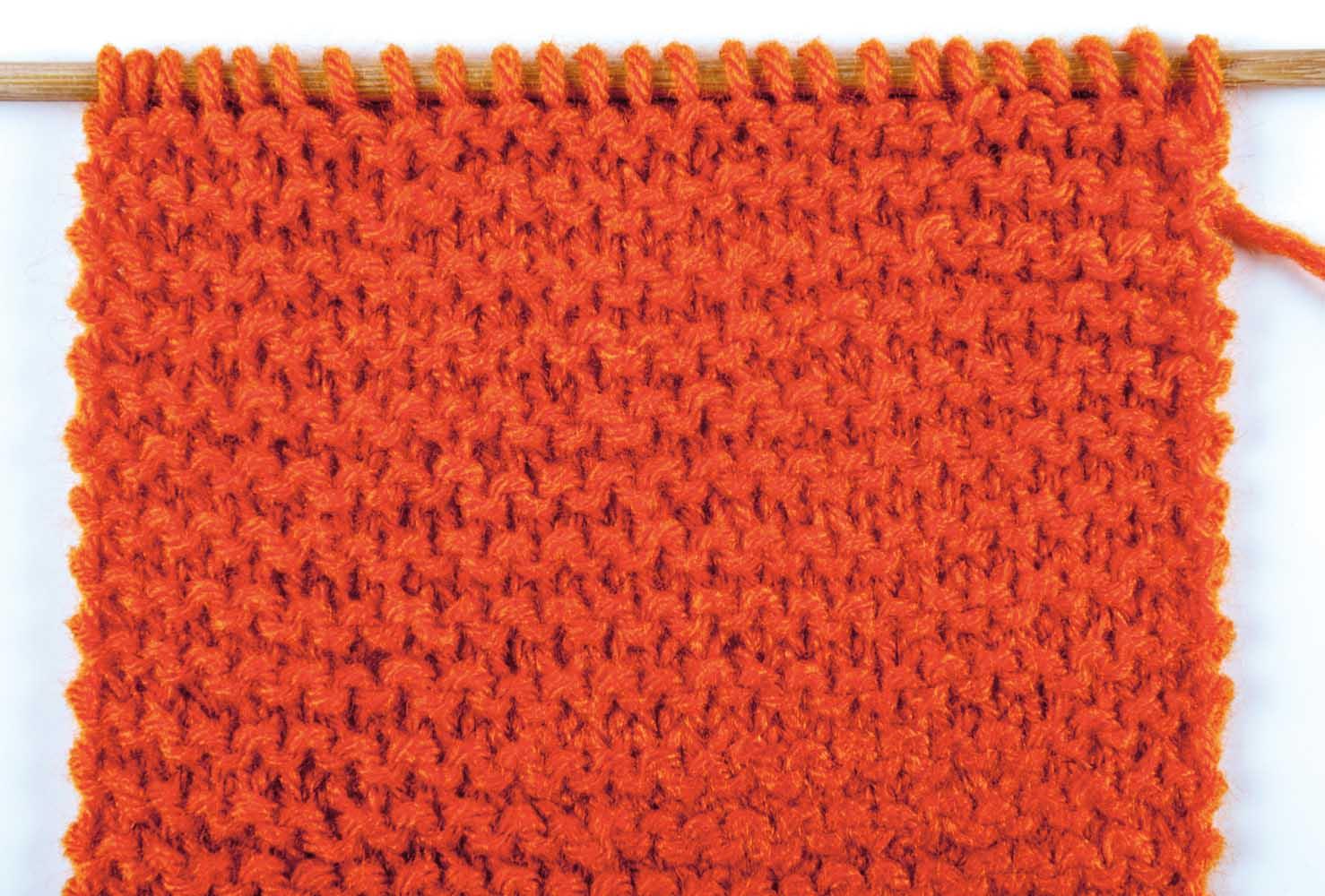 Вязание лицевой петли фото