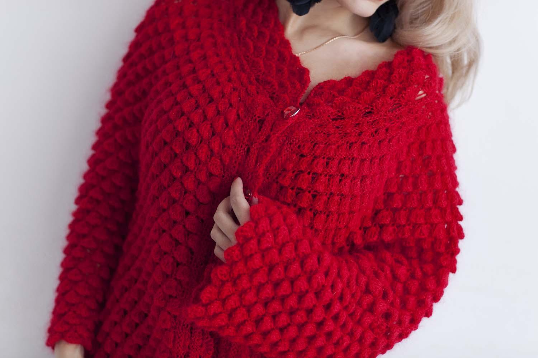 Вязание спицы кофта для мамы