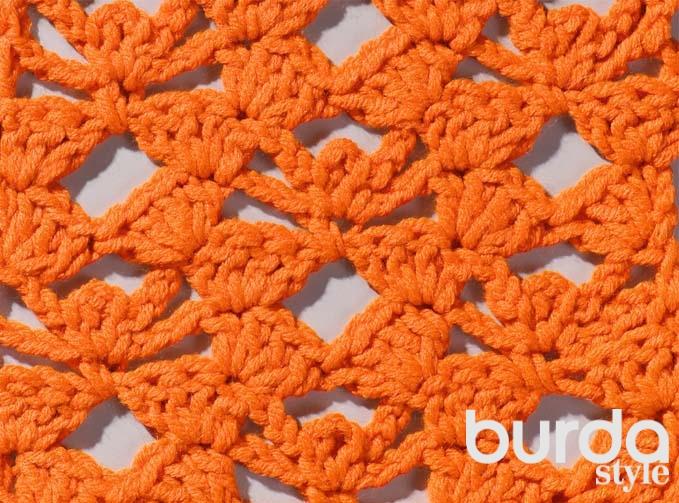 Цветочный узор спицами схема фото 314