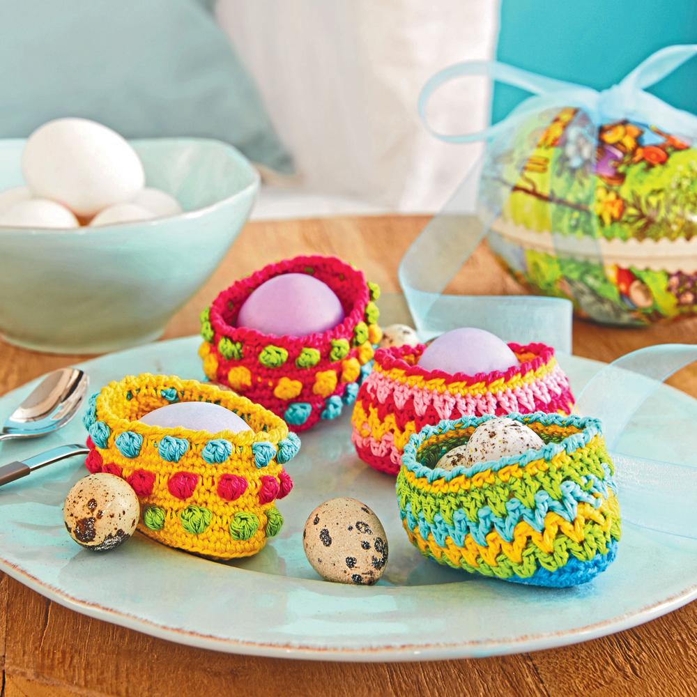 Корзиночки для яиц - схема вязания крючком. Вяжем Корзинки ...