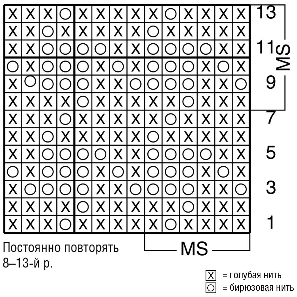 Узор для вязания спицами гусиные лапки схема 65