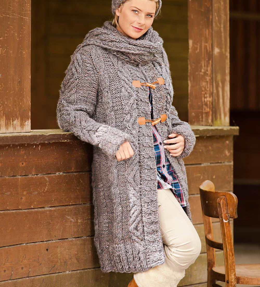 Вязание спицами для женщин пальто на полных