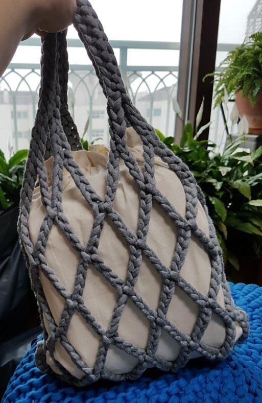 вяжем подушки из трикотажной пряжи схема