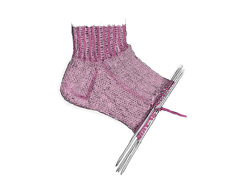 Вязание бабушкин способ носков