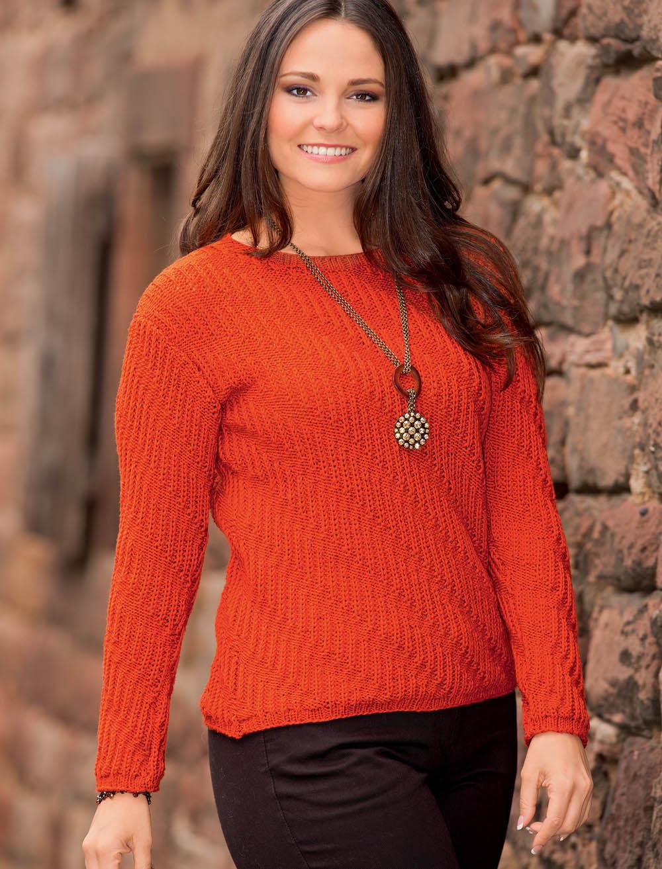 Рельефный узор свитер женский