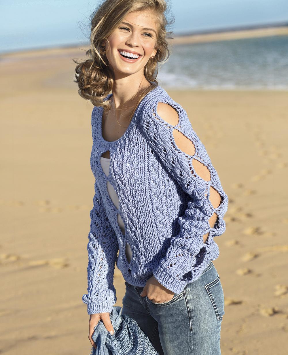 Смотреть вязание спицами свитеров