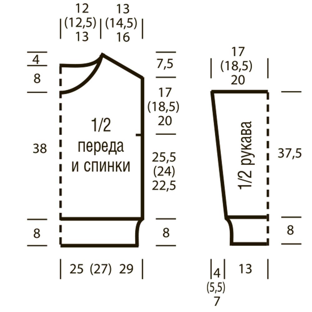 Схема вязания спущенных петель узор