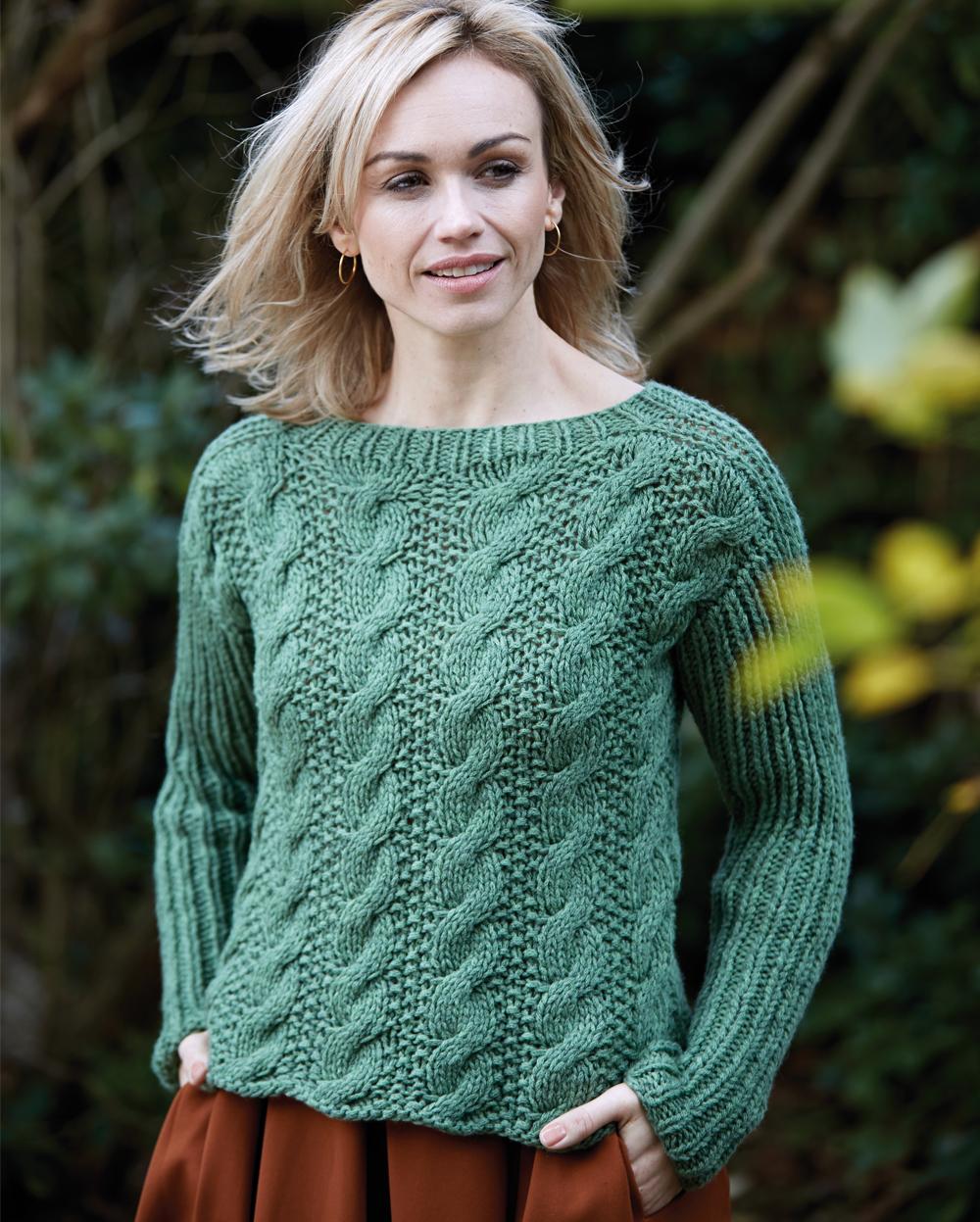 Вязание свитеров с косами спицами 455