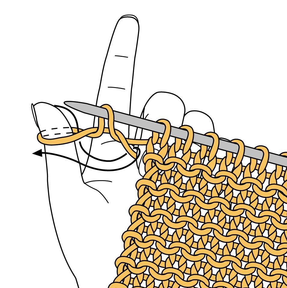 Вязание спицами как набрать дополнительные петли на спицах 815