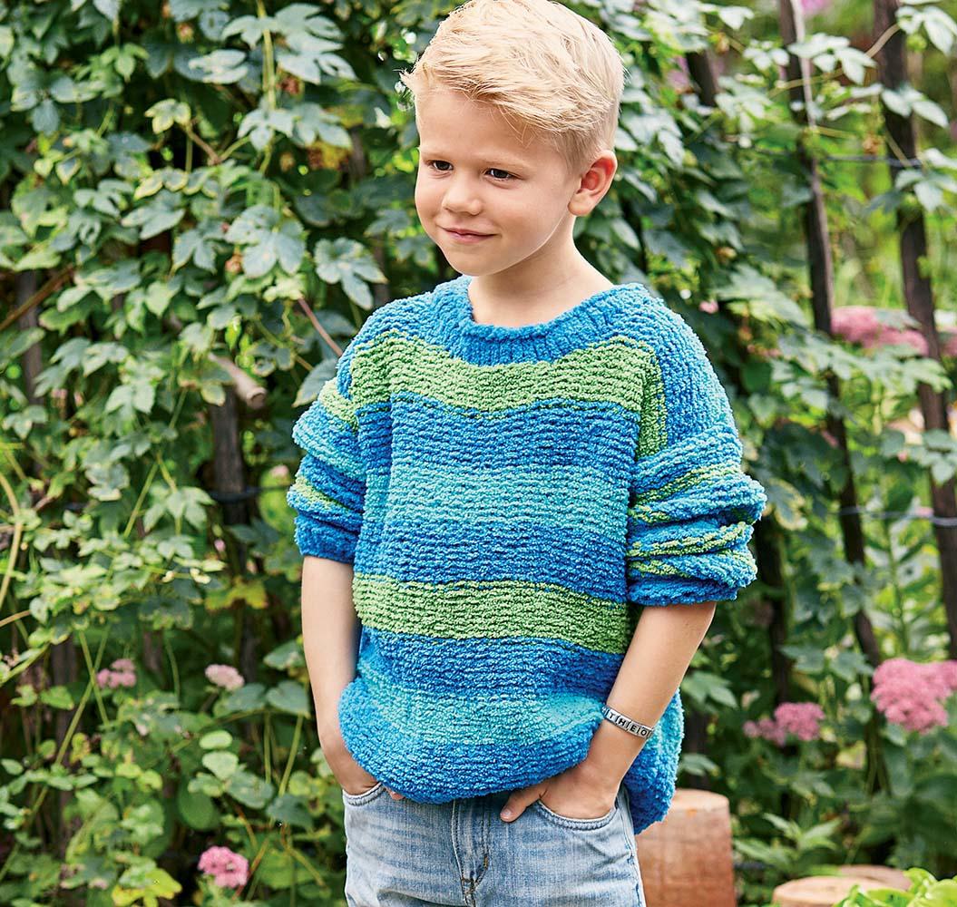 Вязание пуловер на мальчика