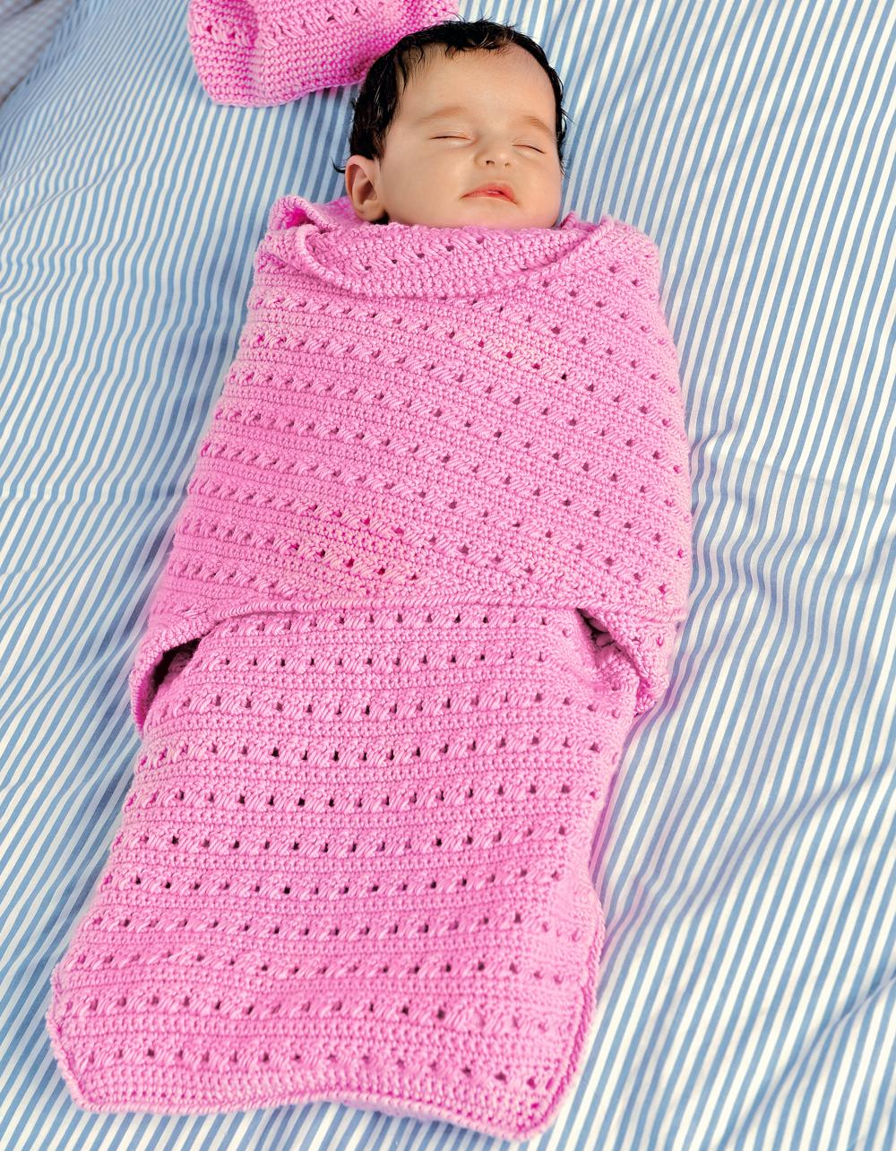 Конверт для новорожденного связать крючком