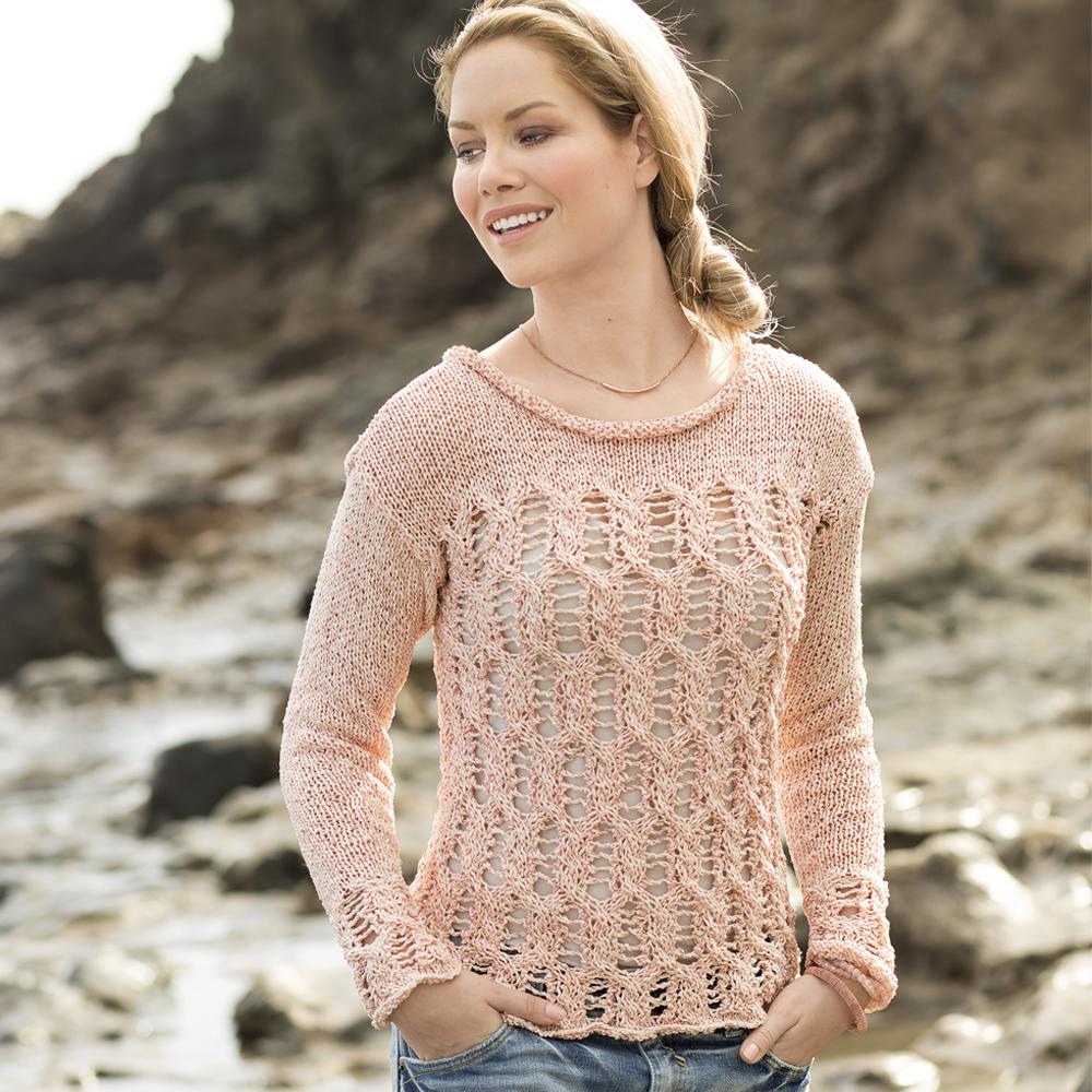 Пуловер С Ажурными Косами