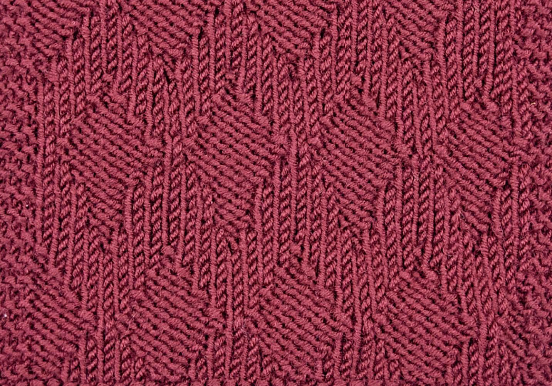 Вязание зигзагообразного рисунка