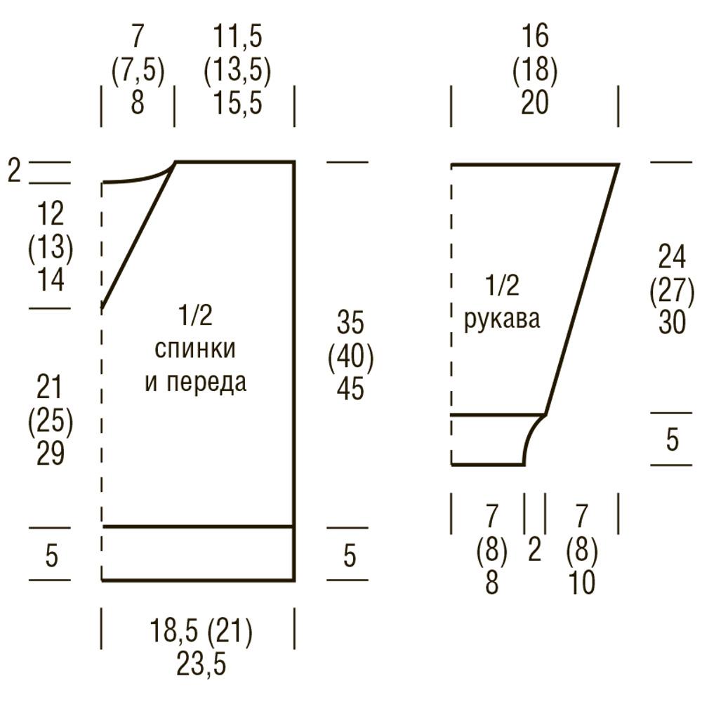 Кромочная петля спицами схема 94